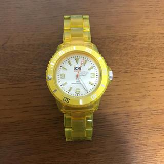 アイスウォッチ(ice watch)のICE WATCH イエロー(腕時計(アナログ))