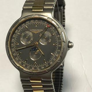 ロンジン(LONGINES)のロンジン コンクエスト ムーンフェイズ チタンコンビ 極美(腕時計(アナログ))