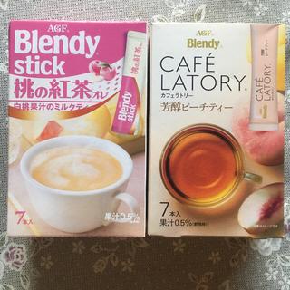 エイージーエフ(AGF)の値下  Blendy  芳醇ピーチティー&桃の紅茶(茶)