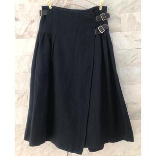 スティールエコンフォール(style+confort)のスティールエコンフォールstyle+confortリネンラップスカート(ひざ丈スカート)