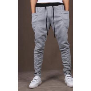 セール♪  スエットパンツ  ジョガーパンツ メンズ レディース XL グレー(サルエルパンツ)