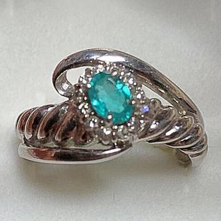 最終値下げ❗️プラチナ パライバトルマリン  ダイヤモンド リング(リング(指輪))