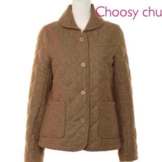 チュージーチュー(choosy chu)の新品未使用 Choosy chu ウール ノーカラージャケット(ノーカラージャケット)