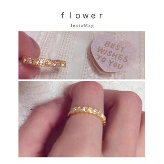 フラワー(flower)のflower♡ゴールドきらきらリング(リング(指輪))