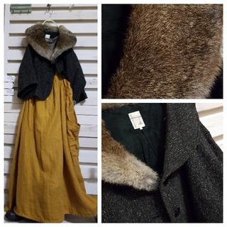 サマンサモスモス(SM2)のSm2/美品♪ファー(ラビット)を取れば、秋から着て頂けるコート(その他)