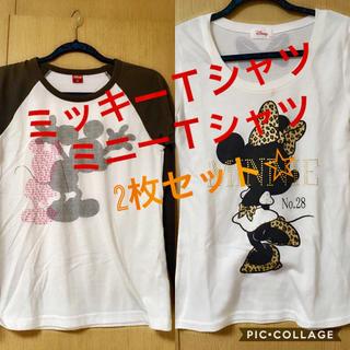 ディズニー(Disney)のミッキー ミニー Tシャツ 2枚セット(*´˘`*)(Tシャツ(長袖/七分))