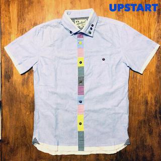 アップスタート(UPSTART)のUPSTART ボタンシャツ Mサイズ 美品(シャツ)