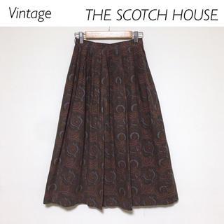 ザスコッチハウス(THE SCOTCH HOUSE)の【Vintage】美品★THE SCOTCH HOUSE ペイズリー柄スカート(ひざ丈スカート)