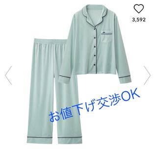 ジーユー(GU)のベロアパジャマ S  ブルー&ピンク(パジャマ)
