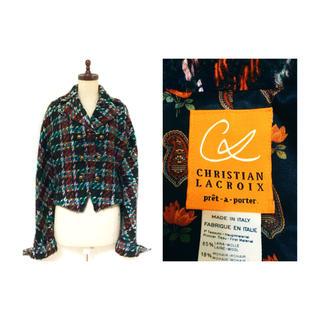 クリスチャンラクロワ(Christian Lacroix)の80s Christian Lacroix Jacket モヘア ツイード(テーラードジャケット)