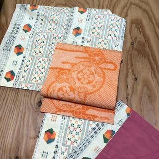 正絹、袷、紬、可愛い柄のお着物(帯は別売り)(着物)