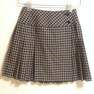 プリーツ 巻きスカート