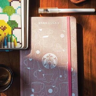 スターバックスコーヒー(Starbucks Coffee)の海外スタバ&モレスキン♡2019手帳/プランナー(ピンクデニム)シンガポール限定(カレンダー/スケジュール)