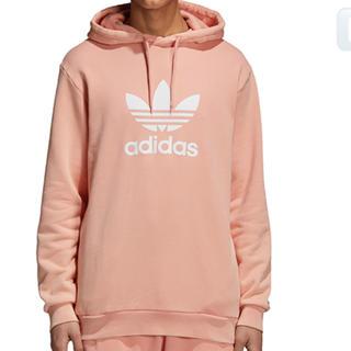 アディダス(adidas)のアディダス オリジナルス ビッグロゴ  パーカー ピンク(パーカー)