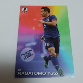 カルビー(カルビー)の新品 送料込み サッカー 日本代表 カルビー カード おまけ 2018年 長友(スポーツ選手)