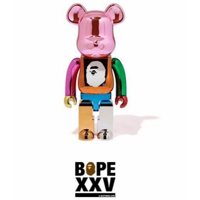 A BATHING APE(アベイシングエイプ)のBAPE MULTI COLOR BE@RBRICK XXV 1000% エンタメ/ホビーのフィギュア(その他)の商品写真