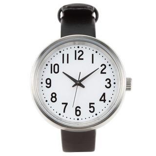 ムジルシリョウヒン(MUJI (無印良品))の無印良品 公園の時計黒・小・新品未使用!ソーラーウォッチ(腕時計)