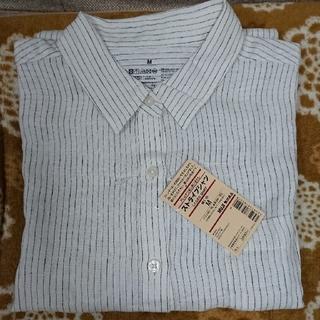 ムジルシリョウヒン(MUJI (無印良品))の無印良品 長袖 ストライプシャツ 未使用新品 Mサイズ(シャツ/ブラウス(長袖/七分))