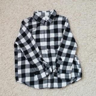 ジーユー(GU)の美品✨GU キッズネルチェックシャツ(Tシャツ/カットソー)