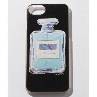 スリーフォータイム(ThreeFourTime)の新品 iPhone6、7 スマホカバー ラメ入り香水柄 ブラックorホワイト(iPhoneケース)