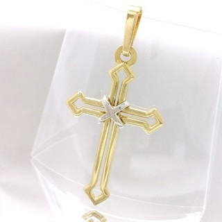 ウノアエレ(UNOAERRE)のウノアエレ K18 750 18金 クロスモチーフ ペンダントトップ 十字架(ネックレス)