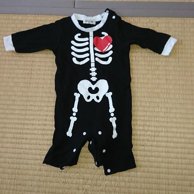 未開封 ハロウィン かぼちゃ ロンパース 80 キッズ/ベビー/マタニティのベビー服(~85cm)(ロンパース)の商品写真