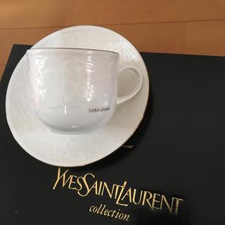 サンローラン(Saint Laurent)のイヴサンローラン カップ&ソーサー 新品未使用(グラス/カップ)