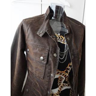 ゴーサンゴーイチプーラファム(5351 POUR LES FEMMES)の5351プーラファム★ヘリンボーン柄のジャケットとH&M7分袖ニット(ミリタリージャケット)