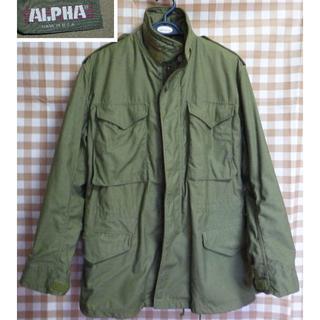 アルファ(alpha)のALPHA社 M-65(エムロクゴー)92年 旧ロゴ 米国製 M~L【送料込】(ミリタリージャケット)
