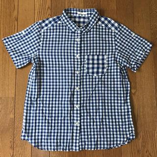 ジーユー(GU)のGU✩ギンガムチェック 半袖 シャツ (シャツ/ブラウス(半袖/袖なし))