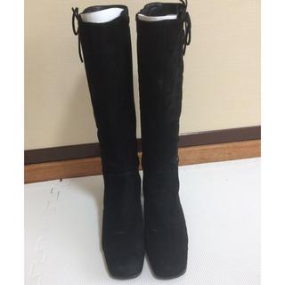 ヒミコ(卑弥呼)のロングブーツ camui 黒 25(ブーツ)