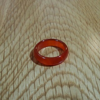 天然石☆レッドカルセドニー 約14号(リング(指輪))