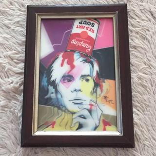 アンディウォーホル(Andy Warhol)の3D 額縁付き アンディウォーホル アート ポストカードサイズ(アート/写真)