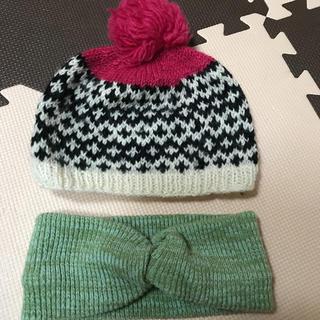 ユナイテッドアローズ(UNITED ARROWS)のkids ニット帽&ママ用ニットターバン(帽子)