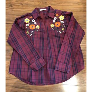 スコット(SCOTT)のチェック刺繍シャツ(シャツ/ブラウス(長袖/七分))