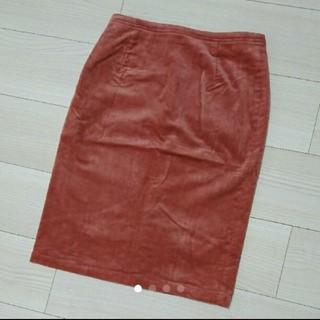 ヌール(noue-rue)のフランドル・ヌールのコーデュロイスカート/ピンクM(ひざ丈スカート)