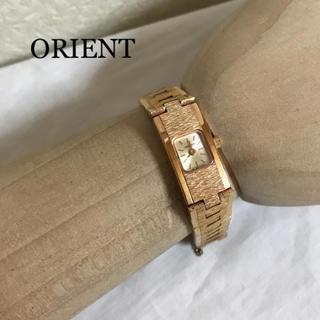 オリエント(ORIENT)のオリエント 腕時計 電池式 メタル ピンクゴールド(腕時計)