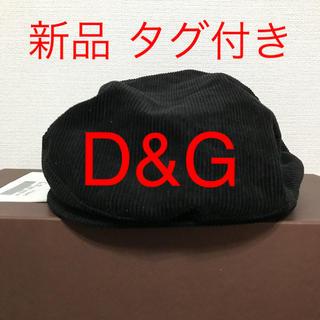 ドルチェアンドガッバーナ(DOLCE&GABBANA)の【新品】D&G ディーアンドジー  ドルガバ ハンチング帽(ハンチング/ベレー帽)