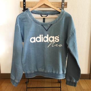 アディダス(adidas)の【新品】アディダス デニムトップス(シャツ/ブラウス(長袖/七分))