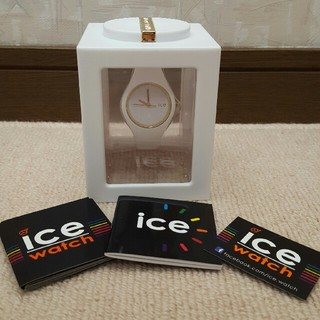 アイスウォッチ(ice watch)の【icewatch】ICEGLAM★ホワイト★美品(腕時計)
