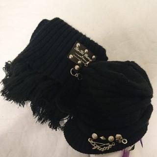 セックスポット(SEXPOT)のsex pot  ニット帽子、マフラーセット(マフラー/ショール)