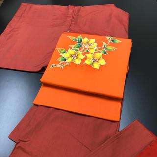 正絹、袷、紬、オレンジ系のお着物のみ。(着物)