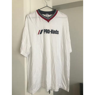 PRO-Keds - Pro keds スポーティ レトロ 90年代 ビッグT メンズ Tシャツ 白
