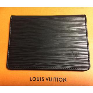 ルイヴィトン(LOUIS VUITTON)のルイヴィトン   エピ 黒 パスケース 新品未使用(名刺入れ/定期入れ)