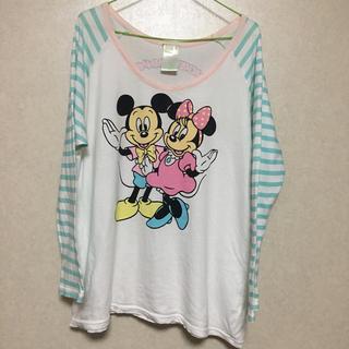 ディズニー(Disney)のミッキー&ミニー☆ラグランロンT(Tシャツ(長袖/七分))