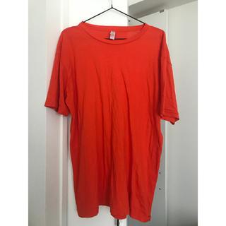 ユニクロ(UNIQLO)のビビッドオレンジ ビッグTシャツ 半袖(Tシャツ/カットソー(半袖/袖なし))