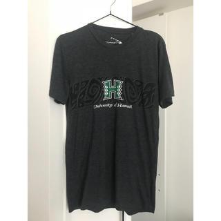 ハワイ大学 シンプル Tシャツ 現地買い フラ アロハ 古着
