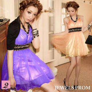 ジュエルズ(JEWELS)のJEWELS PROM オーガンジー ドレス パーティ ワンピース(ミニドレス)