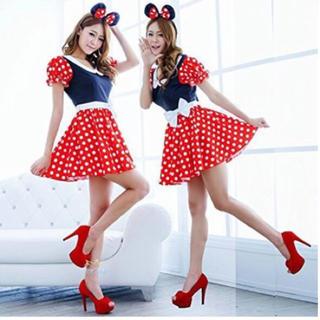 ディズニー(Disney)のミニー ワンピース ♡ レディース ハロウィン コスプレ 衣装(ミニワンピース)