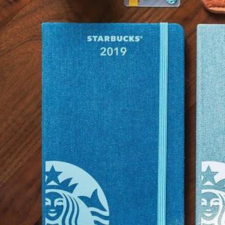 スターバックスコーヒー(Starbucks Coffee)の海外スタバ&モレスキン♡2019手帳/プランナー(青デニム)シンガポール限定(カレンダー/スケジュール)